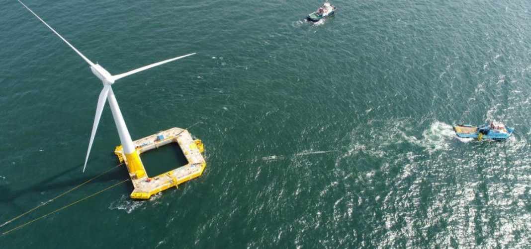 Installed 22km off the coast of Le Croisic in western France is a wind turbine called Floatgen