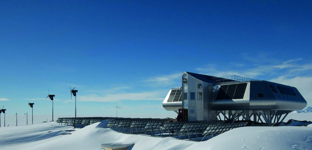 The Princess Elisabeth research station in the Antarctic